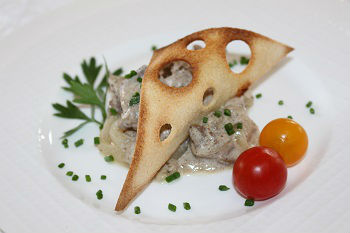 Photo Russian Bake Chicken Liver With Onion