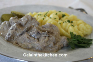 Photo Russian chicken liver with mashed potato
