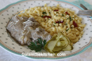 Photo Russian chicken liver with pasta