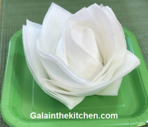 Photo White flower from paper napkins