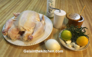 Photo Ingredients Baked Chicken with Rosemary and Lemon