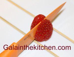 Photo strawberry Fan Garnish