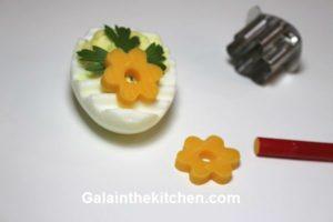 Photo Deviled Eggs for Easter Garnish Idea