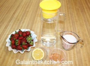 Photo Russian Strawberry Kompot Ingredients. Photo