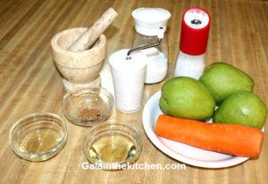Photo Chayote Squash salad recipe ingredients