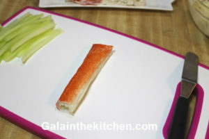 Photo Imitation Crab Meat Appetizer Roll