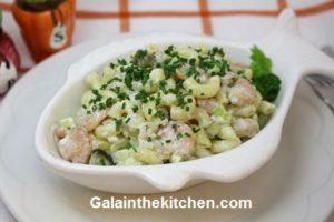 Photo Seafood Pasta Salad Recipe in Fish Bowl