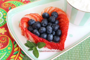 Photo Heart strawberry garnish ideas